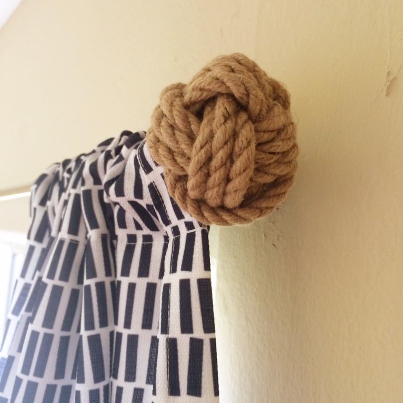 Well-known Monkey Fist Nautical Curtain Rod- DIY – Ali Schroeder QR68